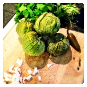 Be sure to wash tomatillos thoroughly once husks are removed