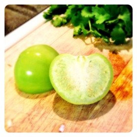 Quartered or Halved Tomatillo (deoending on Size)