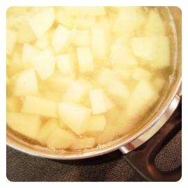 Bring to a boil in salted water or chicken broth, cook til fork tender