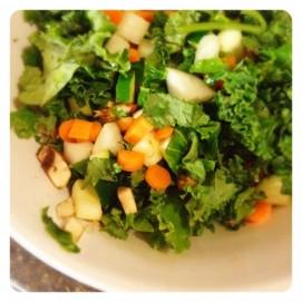 Dice veggies evenly